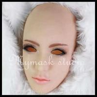 Top Grade Female Mask Latex Silicone Ex Machina Realistic Human Skin Masks Halloween Dance Masquerade Party