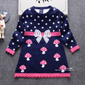 2016 autumn and winter new fashion children's sweater skirt knitted long-sleeved girls sweater princess skirt children sweater