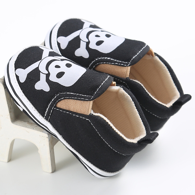 Cool Graffiti Human Skeleton Toddler Shoes for Kids Baby First Walkers Canvas Shoes Boys Casual Shoes
