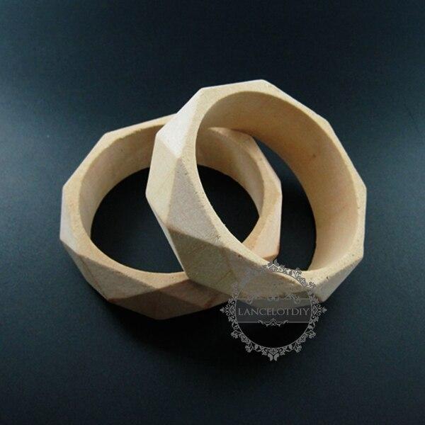 69mm Natural Log Wood Vintage Style Bracelet Bangle DIY Painting Bracelet Supplies 1900113