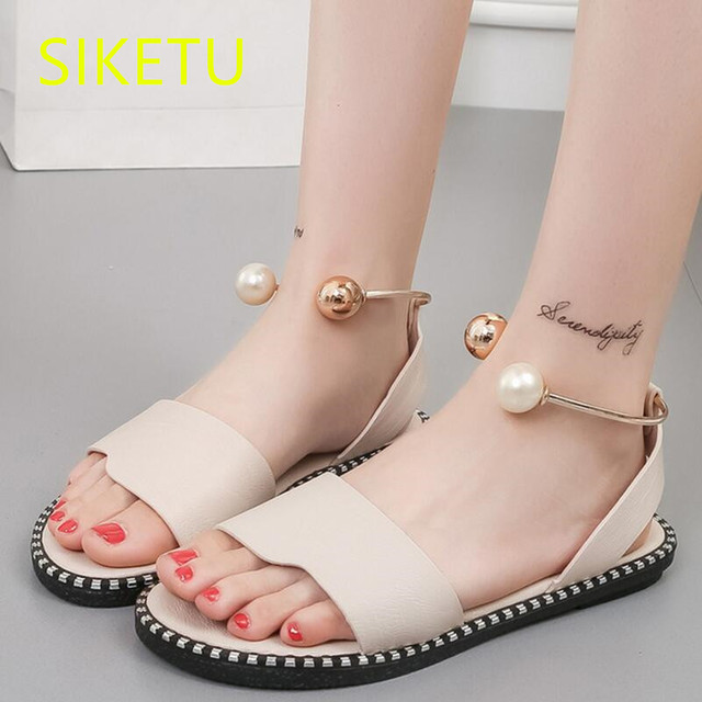 024604b0ee SIKETU Free shipping summer Fashion casual shoes Professional women's shoes  Flats sandals platform shoes t002 flip flop Rome-in Women's Flats from ...