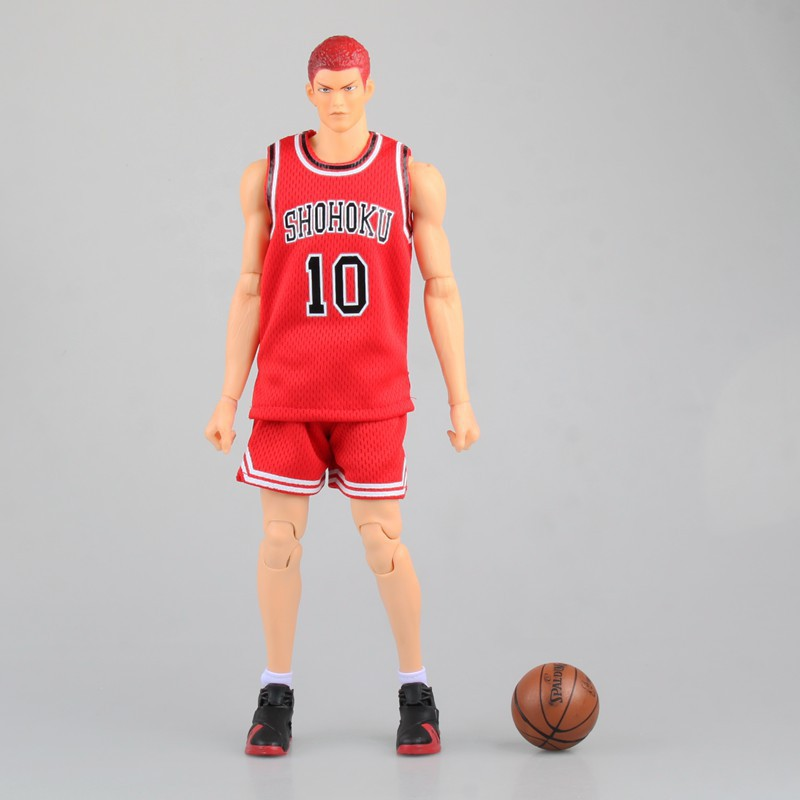 EMS Shipping 13 Slam Dunk Anime Shohoku #10 Hanamichi Sakuragi Moveable Boxed 34cm PVC Action Figure Collection Model Doll Toy кастрюля 1 7 л taller tr 7311