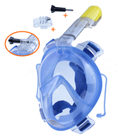 2018 Full Face Snorkeling Scuba Mask Underwater AntiFog mask diving snorkel set Swimming Snorkel diving goggles B2001SD