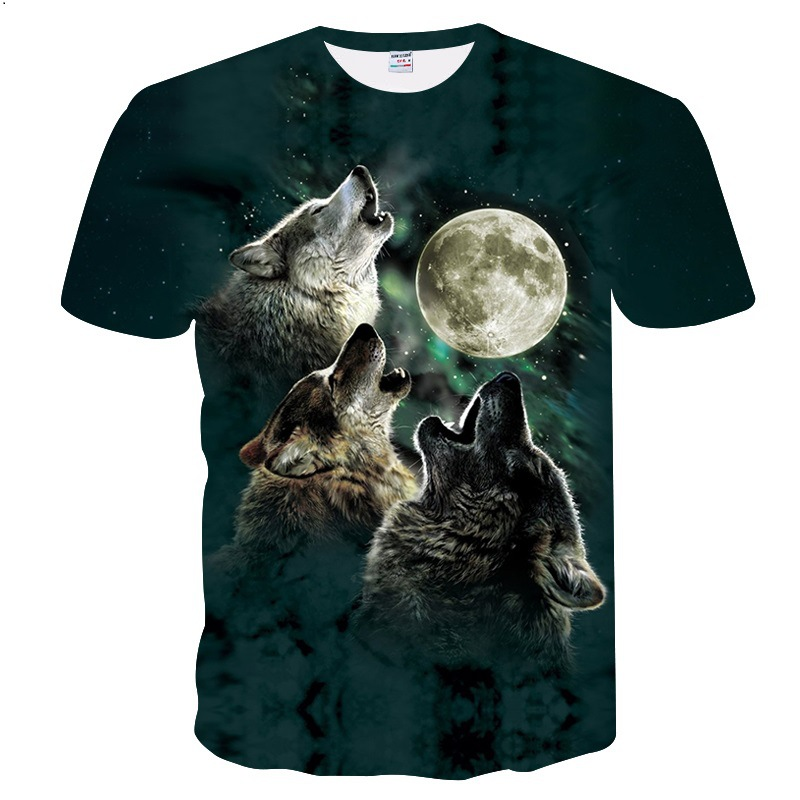 Men's Clothing Purple 3d Tshirts Men Wolf T Shirt Summer T-shirt Streatwear Tee Casual Top Short Sleeve Camiseta O-neck Drop Ship Zootop Bear Suitable For Men And Women Of All Ages In All Seasons