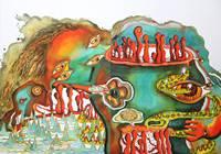 Китайский художник Zou Liangping's Work Сказочная Земля Акварельная картина в рамке абстрактное искусство Искусство настенные картины для гостино