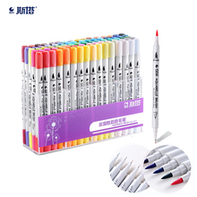 STA water solubility mark pen Two different written Art Markers Set Sketch Marker Brush Pen Set