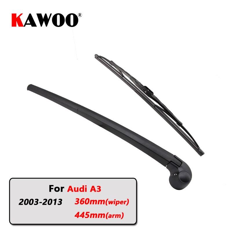 KAWOO Car Rear Wiper Blades Back Window Wipers Arm For AUDI A3 Hatchback (2003 2013) 360mm Auto Windscreen Blade Accessories|Windscreen Wipers| |  - title=