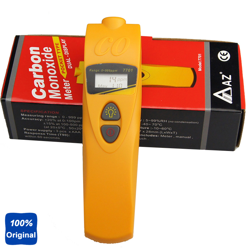 Pocket Type Carbon Monoxide Tester CO Detector Meter AZ-7701