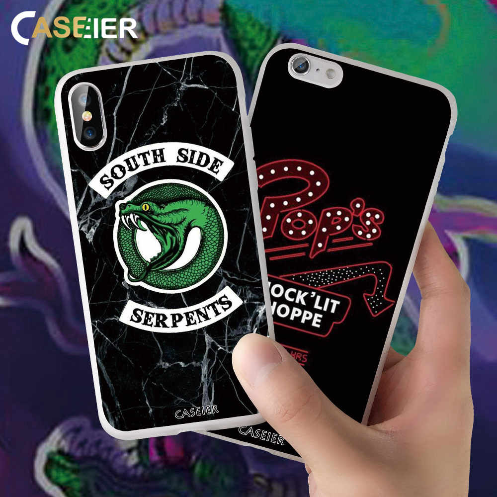 CASEIER Color Printing RIVERDALE Phone Case For iphone 6 6S 7 8 Plus X XS MAX XR Bag For iphone 10 XR 5 5S SE 6S 7 8 Plus Cover