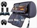 Dual 7 Дюймов Монитор Подголовник Автомобиля Dvd-плеер Молния ИК 32Bit Игра USB SD FM 2 ШТ. ИК Наушники Бесплатная Доставка розничная/Пара