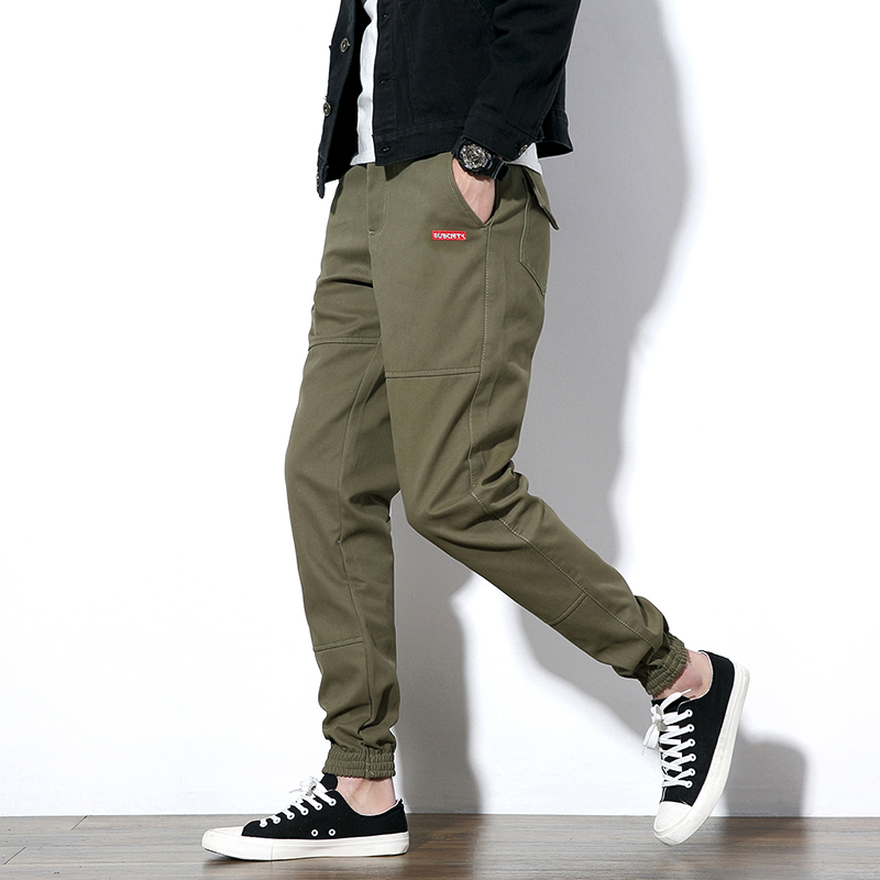 Autumn New Casual Pants Men 2017 Fashion Solid Plus Size Cargo Pants Loose Quality Cotto ...