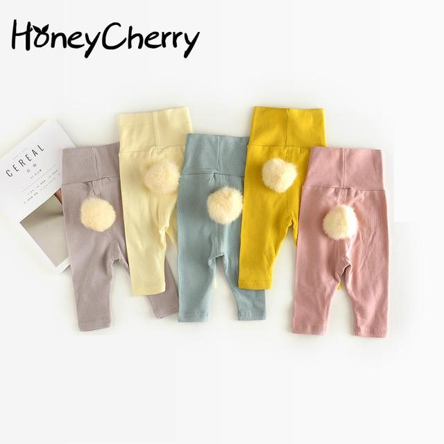 Trousers Of Children 0-1-2 Years Old  Baby Cute Hair Ball Leggings Winter Boys Trousers baby girl pants kids cute trouser
