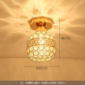 Artpad Modern LED Crystal Ceiling Light for Entrance Corridor Balcony Aisle Decor Surface Mount Square Round Gold Ceiling Lamp 11