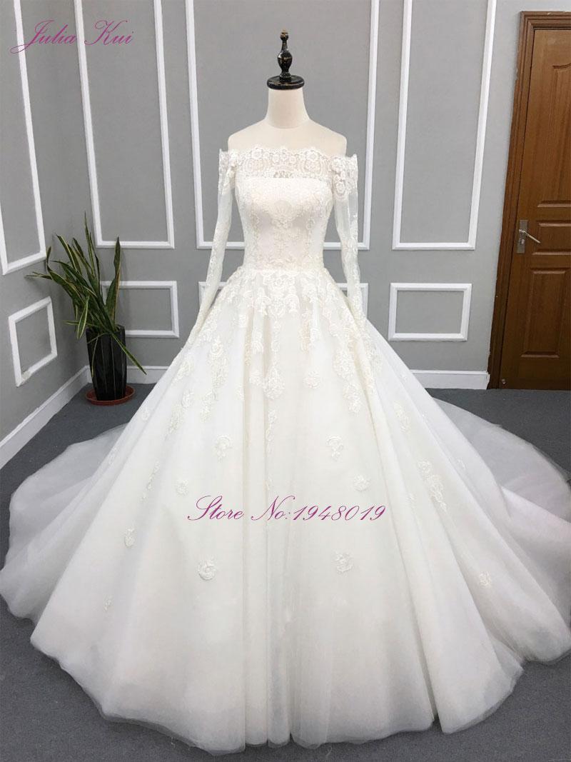 Liyuke Robe De Mariage A Line Prinses Bruidsjurk Uit De Schouder - Trouwjurken