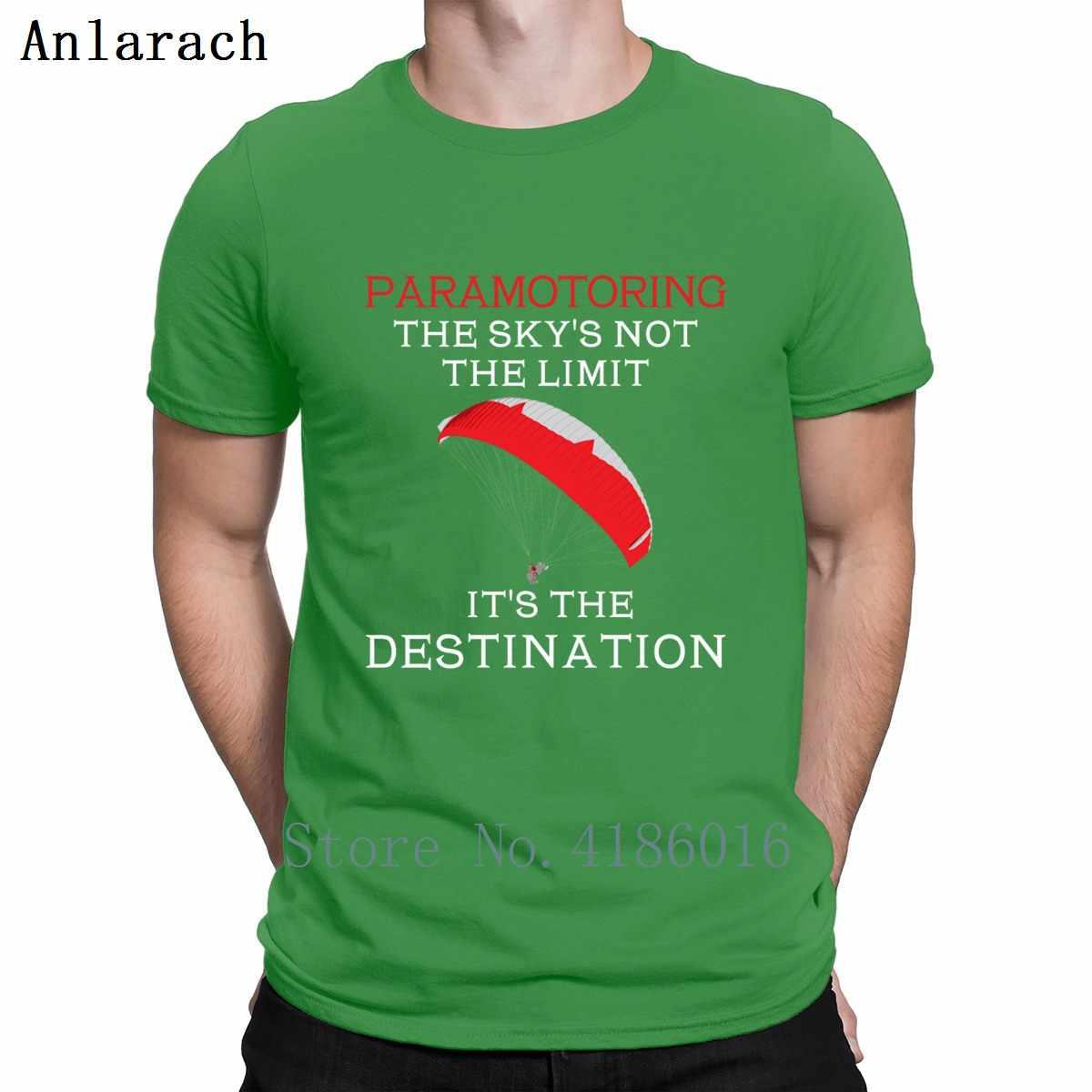Paramotor el cielo de las Ss no Limite T camisa lindo Tee Tops estándar o-Cuello Streetwear Funky luz del sol imprimir Suelto