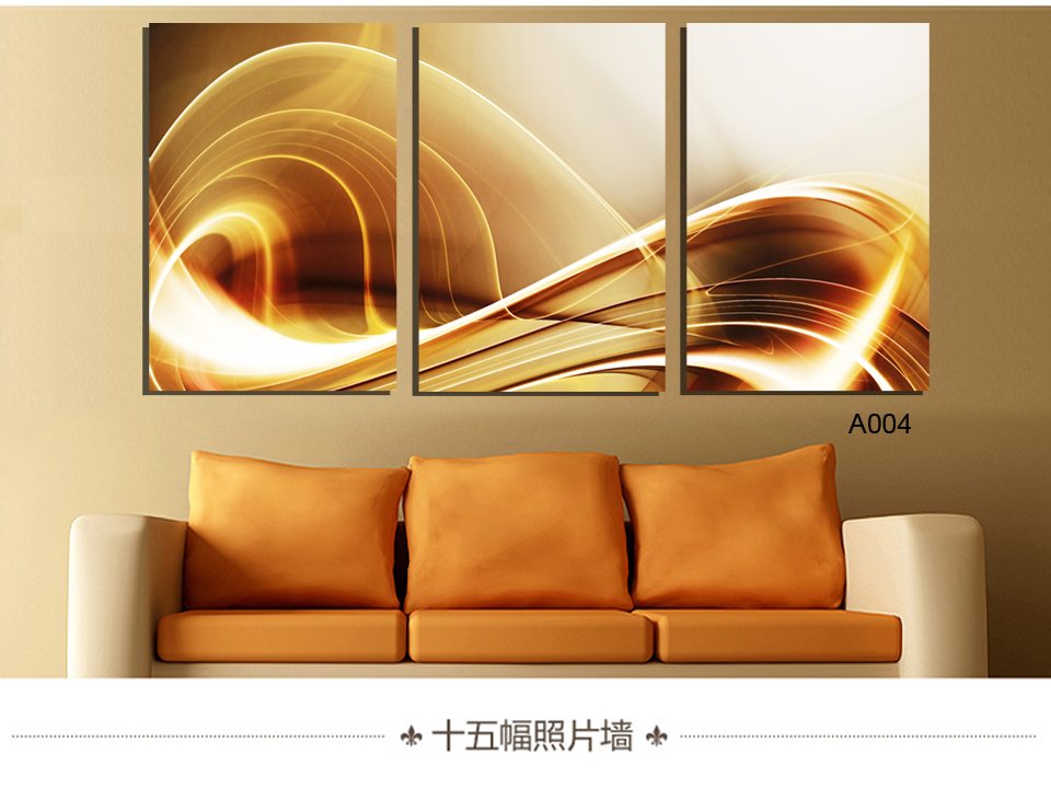 2016 Luxry 3 Pieces Retro And Nostalgic Style Modern Painting Canvas Art Home Decoration PAINTING Vertical Version Art Unframed
