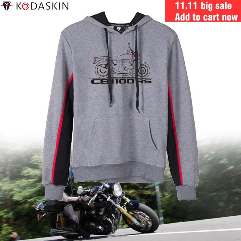 KODASKIN Vintage Racer Motorcycle Hoodies Men Sweatshirts Hooded Hoody Coat for Honda CB1100RS