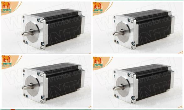 4 Pcswantai Nema23 Stappenmotor 57bygh115-003p1-1 Enkele Platte As, D-as, 425 Ozin 115mm 3a, 3d Printer Robot Foam Plastic Metal