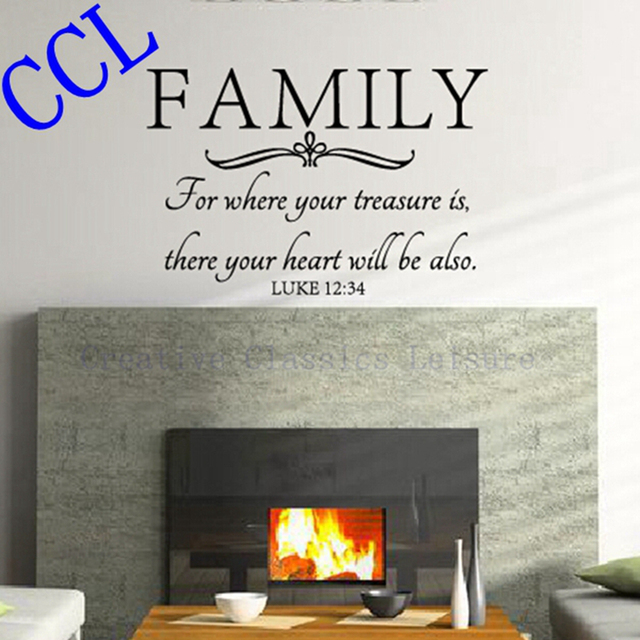 Free Shipping Family Wall Quote Bible Wall Decal Stickers Where - Wall decals quotes bible