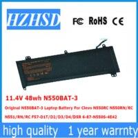 11.4 V 48wh N550BAT-3 オリジナル N550BAT-3 ノートパソコンのバッテリー Clevo N550RC N550RN/RC N551/RN/RC F57-D1 /D2/D3/D4/D5R 6-87-N550S-4E42