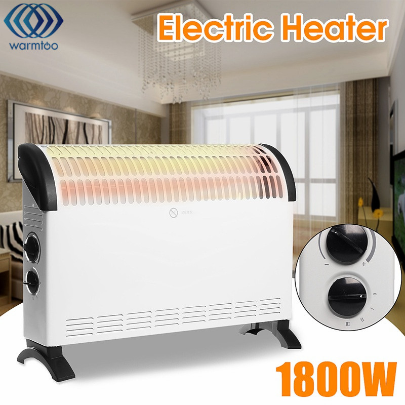 Household Heater 1800W 220V Electric Heater Convection Warm Air Blower Instant Heat Living Room Home Keep Warm warm air blower heating elements fan heater electric heat pipe warming air machine tubular element unit heater parts