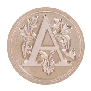 Image 3 - Retro Wax Seal Stamp 26 Letter A   Z  Alphabet Letter Wood Stamp Replace Copper Head Hobby Tools Sets Sealing Wax