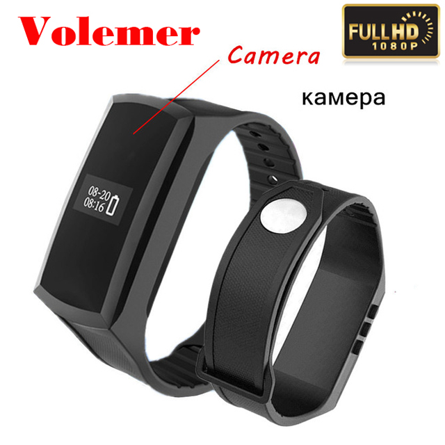 Volemer Hot K88 Mini Camcorder HD 1080P Mini Camera Watch Pedometer Smart Wristband Secret Camera Voice Video Recording Bracelet diy emx500 in ear earphones flat head plug earbuds hifi bass earbuds heavy bass sound headsets for mobile phone