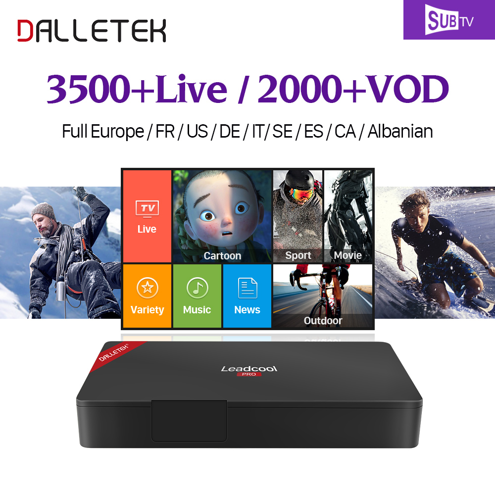French Arabic IPTV 1 Year SUBTV Code Subscription 3500+ Channels Leadcool Pro Android 6.0 TV Box Europe Turkish Germany IPTV Box dalletektv arabic iptv box leadcool android tv box 1 year code iptv subscription channels europe french turkish iptv top box