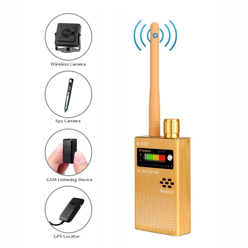 Professional Wireless RF Signal Detector Anti Spy Bug GPS Mini Camera Detector Wireless Signal Scanner Device Finder