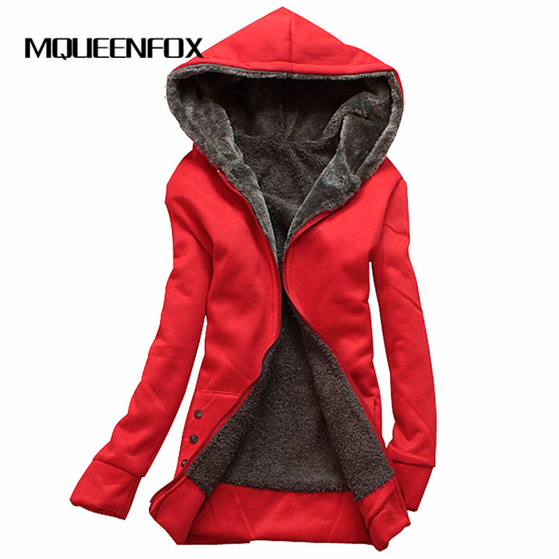 MQUEENFOX Hot Sale Winter Jacket Women Hoodies Long Sleeve Plus Size Thin Parka Mujer Cotton-padded Winter Jacket Hooded