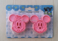 Comercio al por mayor 10 Set/lote Herramientas de decoración de Pasteles, 2 unids/set Mickey Mouse Torta del Caramelo Galletas Jalea fondant Cookie Cutters Envío Gratis