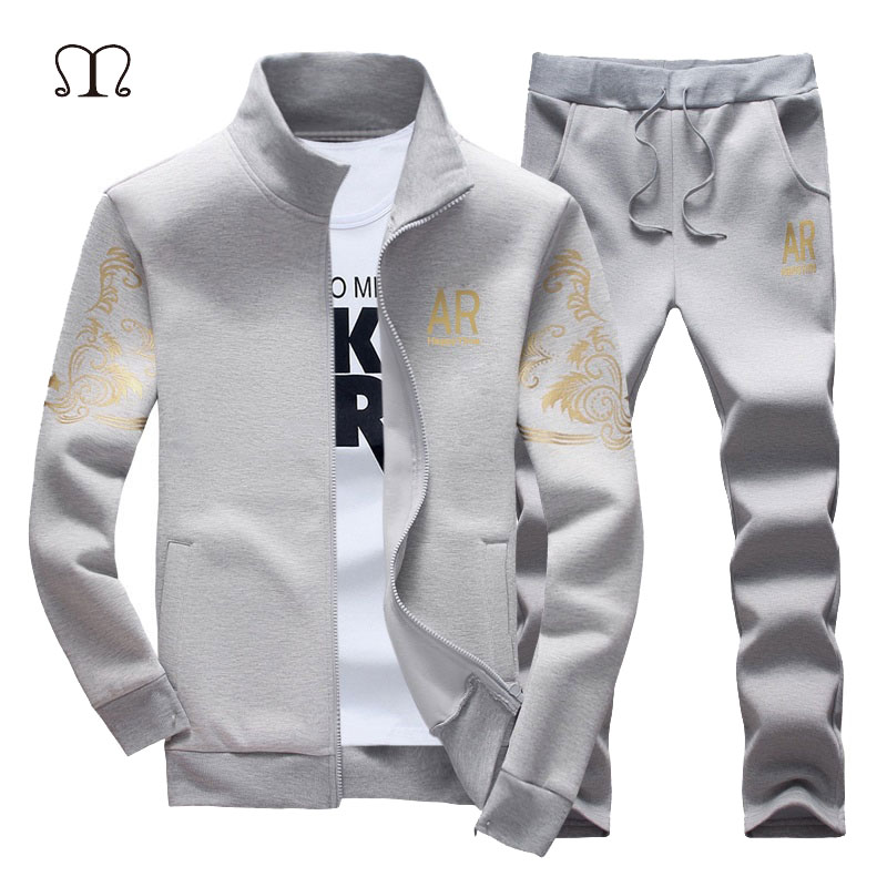 Tracksuit Men Set Fitness Brand CLothing Zipper Sportsuits Man Tracksuits With Pants Brand Jacket and pants Men Polo Sweat Suits