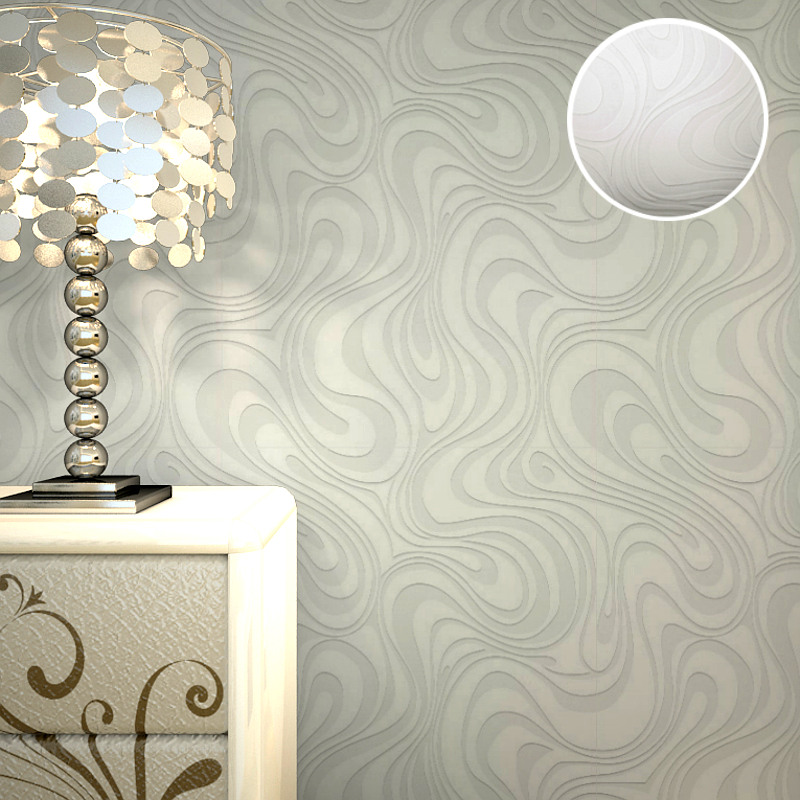 3d Embossed Paintable Wallpaper Abstract White Stripes Textured