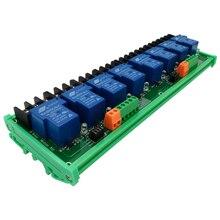Sekiz 8 kanal röle modülü 30A optocoupler izolasyon ile 5V 12V 24V destekler yüksek ve düşük tetik tetik akıllı ev için