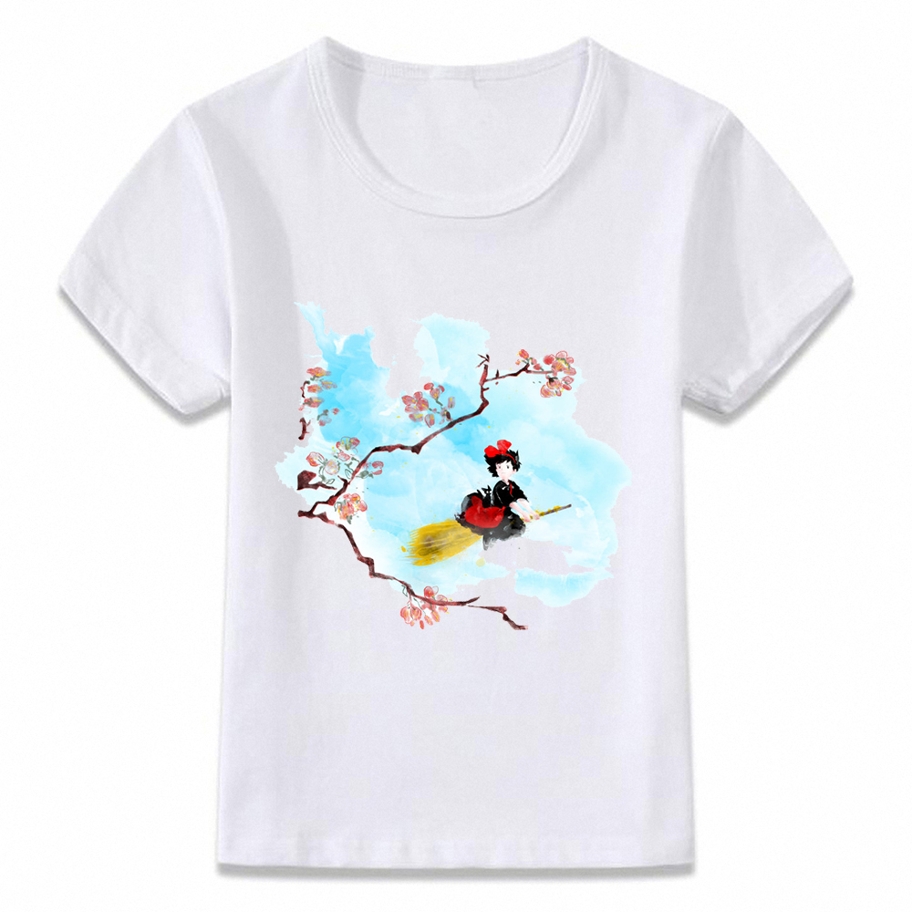 Kids Clothes T Shirt Kiki's Delivery Service Kiki Anime Manga T-shirt For Boys And Girls Toddler Shirts Tee Oal052