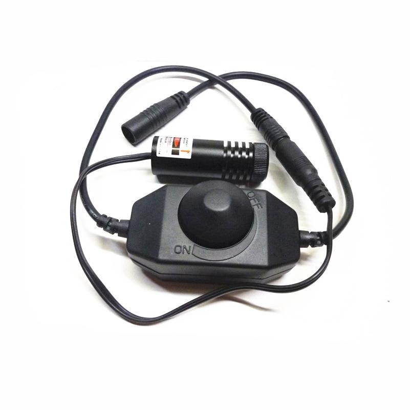 0~50mW adjustable power & focusable 650nm red laser diode module (Line), diameter 18x length 53mm, add line controller swtich 150mw 650nm focusable red laser diode module dot diameter 16mm xlength60mm