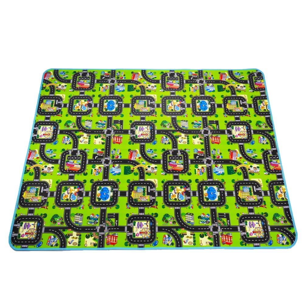 Épaisse ville ville couverture trafic bébé ramper tapis EVA mousse escalade Pad vert route enfant tapis de jeu tapis pour bébé jouets