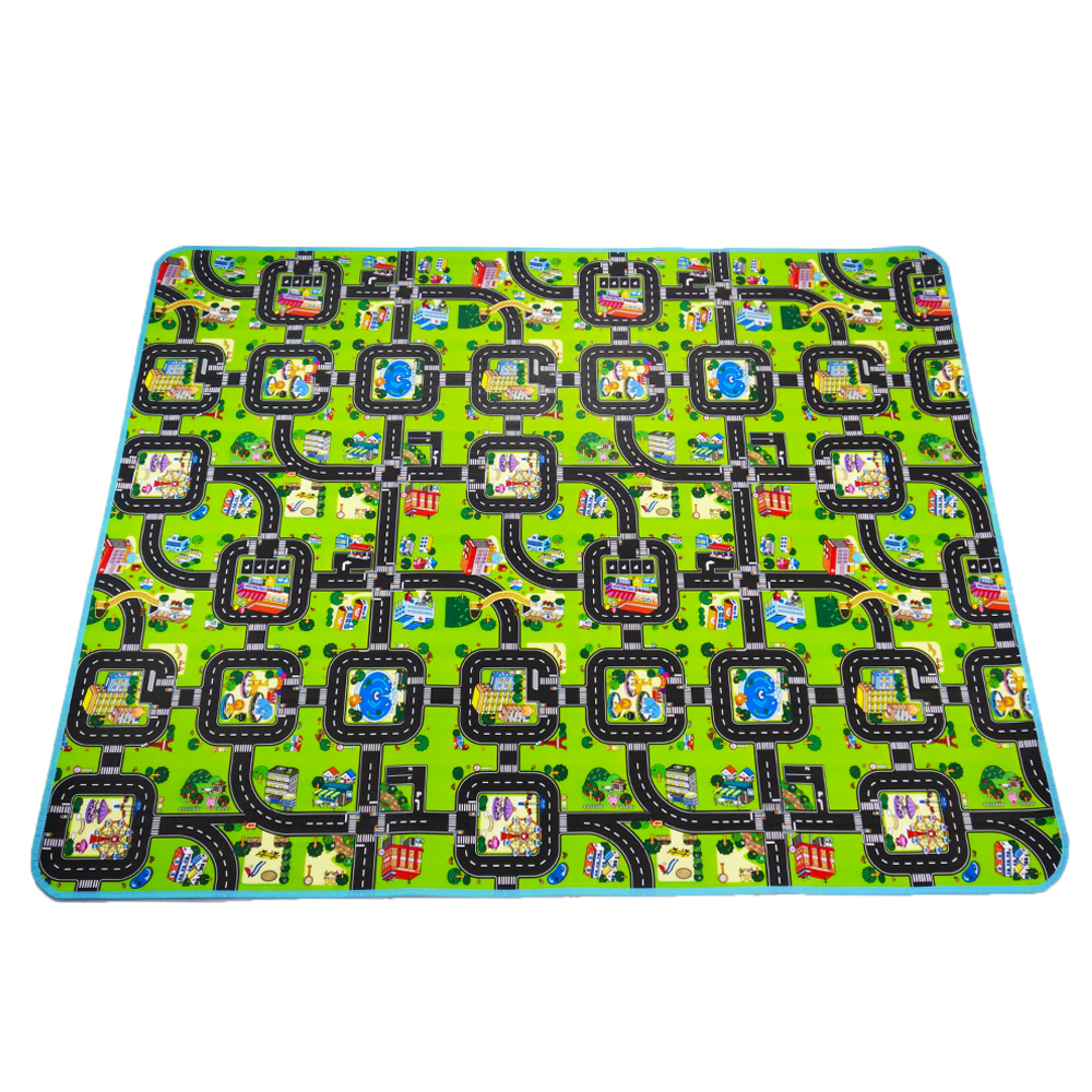 Thick Town City Blanket Traffic Baby Crawling Mat EVA Foam Climbing Pad Green Road Child Play Mat Carpet For Baby Toys
