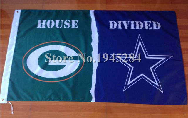NFL Green Bay Packers Dallas Cowboys House Divided Flag New 3x5ft 90x150cm Polyester  Flag Banner 1d3a7a2fd