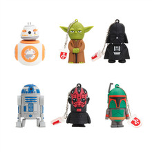 Classic Cartoon USB Flash Drive 4GB 8GB 16GB Pen 32GB 64GB 128GB Stick Star Wars Robot All Styles Pendriver Best Gift