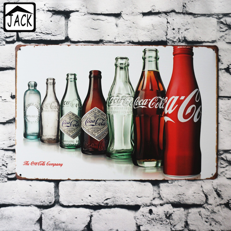 Coke Tin Metal Sign Vintage Plaques Look Distressed Look Pop Soda Kitchen Pub Bar Cafe Gallery