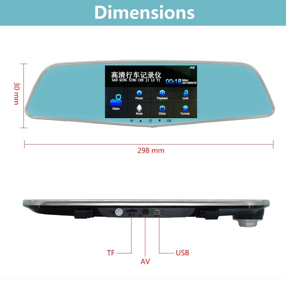 sbhei Car Camera Recorder Mirror Registrator 5 IPS Touch screen LDWS Full HD 1080P Dash Cam DVR Video Super Night Vision