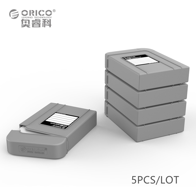 """ORICO PHI-5S-GY Simple HDD Protector Box for 3.5"""" HDD Case with Waterproof Function - 5PCS/LOT -Gray"""