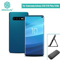 NILLKIN do Samsung Galaxy S10e Lite/S10/S10 Plus skrzynki pokrywa matowe PC matowa twarda tylna pokrywa prezent posiadacz telefonu 5.8/6.11/6.4