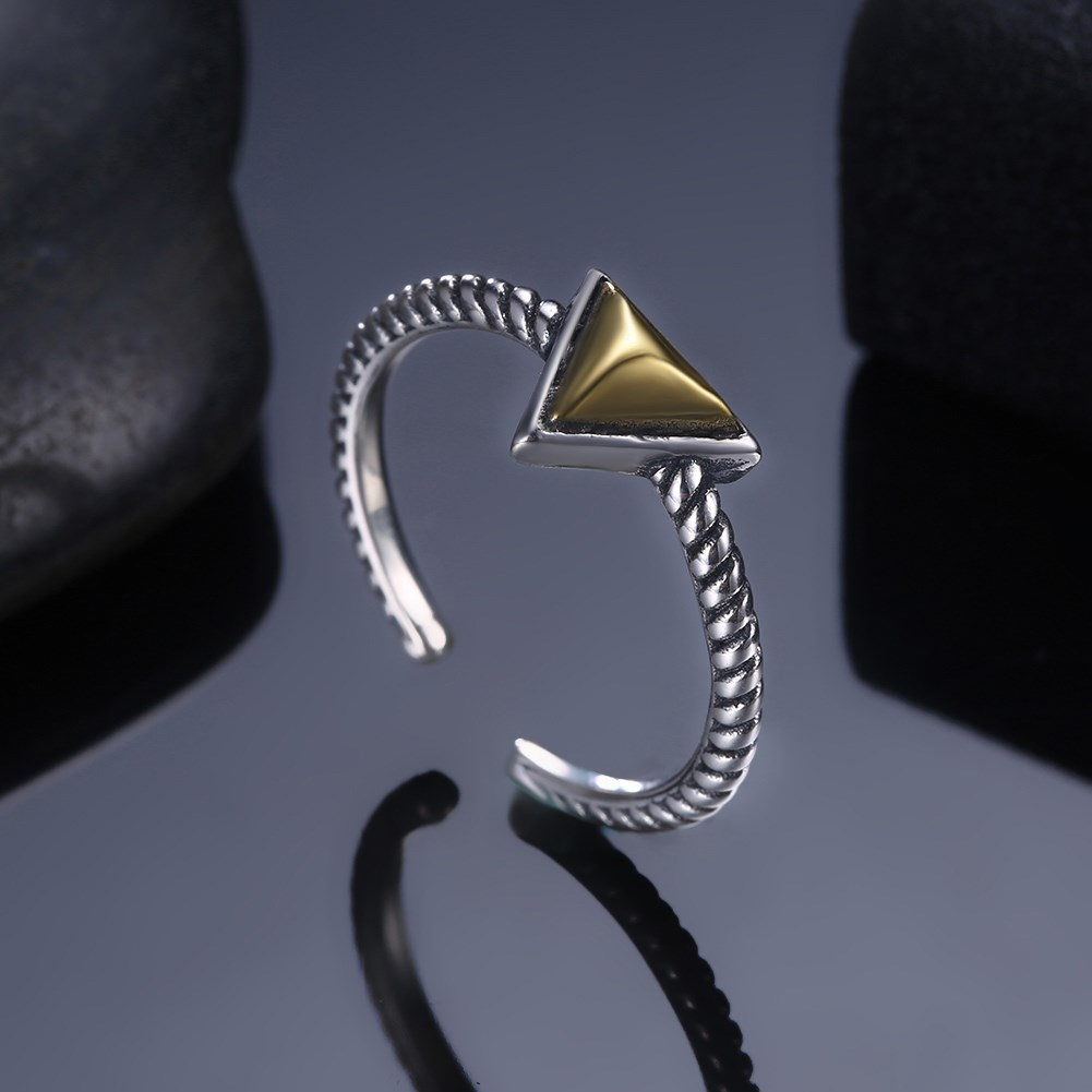 Ring Silver 925 Jewelry Retro Vintage Black Silver Rings For Women Simple Special Design Party Jewelry 925 Sterling Silver Ring