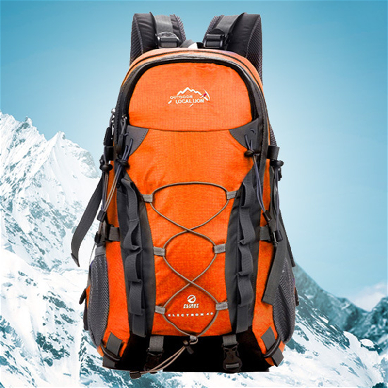 Durable Mountain Climbing Backpack LOCAL LION Light Outdoor Hiking Backpacks 40L Travel Sack Men Waterproof Rucksack Women Bags игрушка remo hobby mountain lion xtreme rh1072