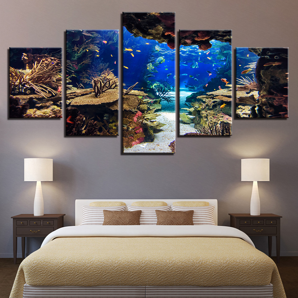 Canvas Wall Art Pictures Framework Home Room 5 Pieces