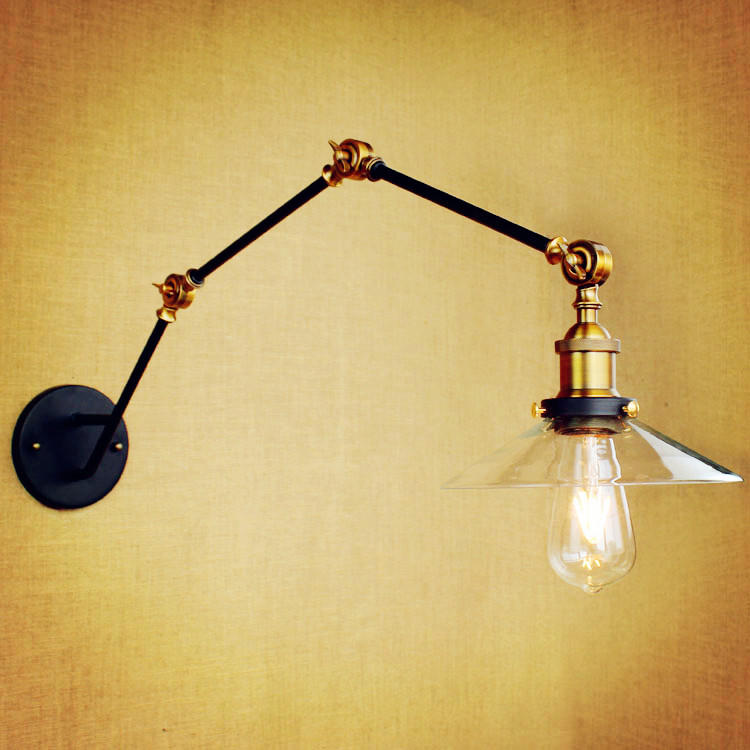 Edison Wall Sconce Retro Industrial Vintage Wall Lamp Adjustable Swing Long Arm Light Lampara Pared Aplique Lampe Murale glass adjustable swing long arm wall light vintage wall lamp retro edison industrial wall sconce arandela aplique murale led