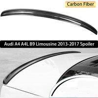 Для Audi A4 A4L B9 лимузин 2013 2017 заднего крыла Спойлер, магистральные загрузки крылья Спойлеры углерода Волокно 3 м Вставить