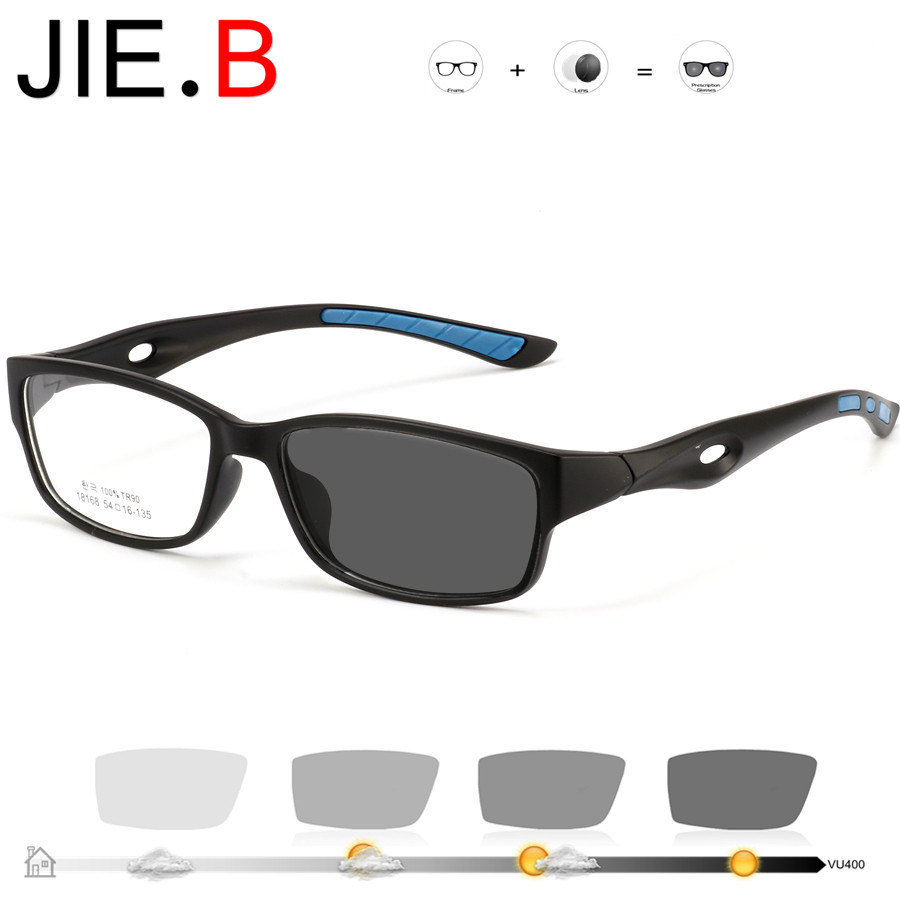 New sports style reading mirror photochromic reading glasses flat 0 degree lens